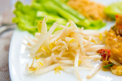 Close up image of Thai food Pad thai Royalty Free Stock Images