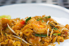 Close up image of Thai food Pad thai Stock Photography