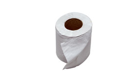 Close-up image of toilet paper studio isolated Royalty Free Stock Photo