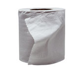 Close-up image of toilet paper studio isolated Stock Photo