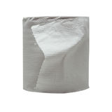 Close-up image of toilet paper studio isolated. On white background Stock Photos
