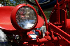 Close up image of tractor headlight. Close up image of  vintage tractor headlight Royalty Free Stock Image