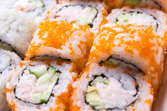Close up image of traditional Japanese food Sushi Royalty Free Stock Photo