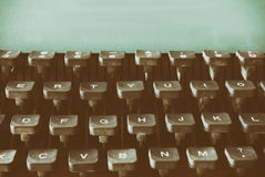 Close up image of typewriter keys. vintage filtered. selective focus Stock Photography