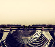 Close up image of typewriter with paper sheet. copy space for your text. terto filtered Royalty Free Stock Photos