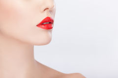 Close up image of unrecognisable women Royalty Free Stock Photo