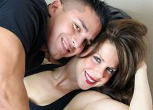 Close-up image of young couple Stock Photo