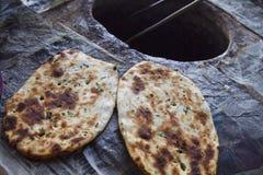 Close-up of Indian breads (Kulcha), Amritsar, Punjab, India Stock Images