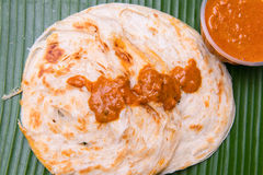 Close up of indian chapati bread Stock Photography