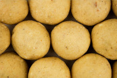 Close up of Indian Laddu Sweet Truffles Royalty Free Stock Photo