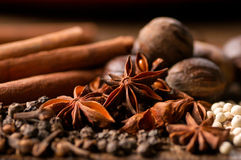 Close up of Indian Spices Stock Images