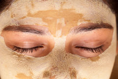 Close up of Indian woman with face mask Royalty Free Stock Images