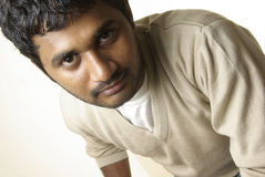 Close up of Indian young man Royalty Free Stock Images