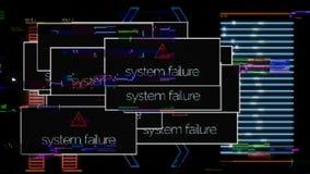 Close up for indicators of running computer program, abstract digital background. Animaton. Laptop working application. Close up for indicators of running royalty free illustration