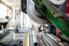 Close-up of industrial metal cutting tool Stock Photo