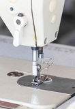 Close up industrial sewing machine Stock Photo