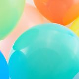 Close-up inflated balloon composition Royalty Free Stock Image