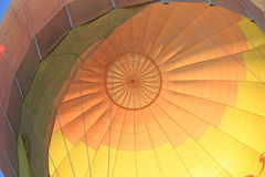 Close up of inflated hot air balloon Royalty Free Stock Photography