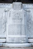 Close up of inscription on Confederate Mothers Statue, Jackson, Mississippi Royalty Free Stock Images