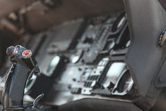 Close Up Of Inside Fighter Jet Cockpit Stock Photography
