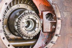 Close-up Inside of gearbox Stock Photo