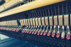 Close up of Inside the piano with selective focus Close up of In Stock Image