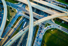 Close up Interchange , Loops , and Highways Interstate 35 and Toll Road 45 Austin Texas Transportation. Interchange , Loops , and Highways Interstate 35 and Toll royalty free stock photo