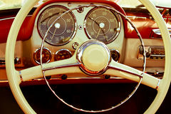 Close-up interior vintage car Stock Photography