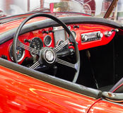 Close up interior Vintage retro classic car ,Thailand Royalty Free Stock Photos