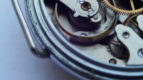 Close up of a internal clock mechanism stock video footage