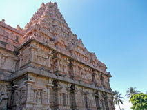 Close up of the intricate detail on the walls of a Hindu temple Stock Photo