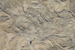 Close up of intricate texture of rock formation as background. Royalty Free Stock Images