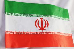 Close up of The Iran flag royalty free stock photography