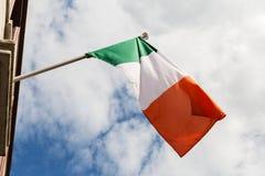 Close up of irish flag. Symbolics, patriotism and nationalism concept - close up of irish flag Stock Image