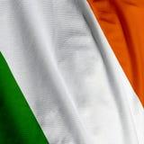 Close up irlandês da bandeira Fotografia de Stock