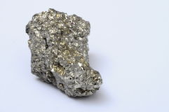 Close up of iron pyrite Royalty Free Stock Photo