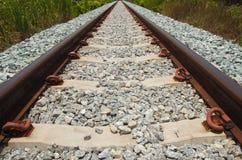 Close up iron railway background Stock Image