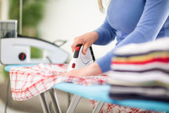 Close up of ironing Stock Images