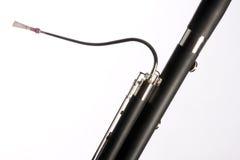 Close up isolado Bassoon no branco Fotos de Stock Royalty Free
