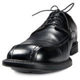 Close up isolado do clube dos homens sapata preta clássica imagem de stock