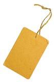 Close up isolado do Tag da venda do cartão etiqueta em branco Fotografia de Stock
