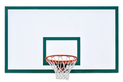 Close up isolado gaiola do encosto da aro de basquetebol Imagens de Stock