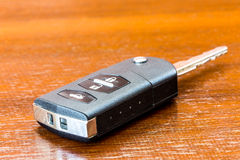 Close up and isolated car key Stock Photo