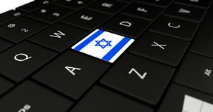 Close up of Israel button. Royalty Free Stock Photography