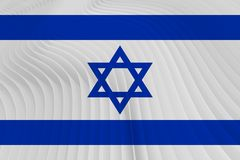 Israel national flag. Close-up of Israel`s national flag stock images