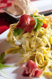 Close Up Of Italian Pasta and Sauce Royalty Free Stock Photo