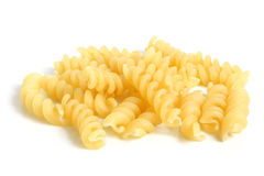 Close-up of italian pasta - spiral shaped Royalty Free Stock Image