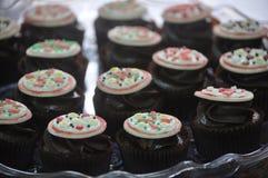 Close up of Italian pizza fondant cupcakes on tray  Stock Image