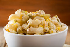 Close up of a italian salad with pasta Royalty Free Stock Photos