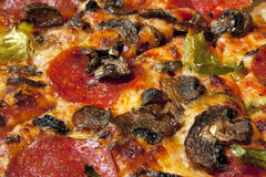 Close up italiano da pizza Imagens de Stock Royalty Free